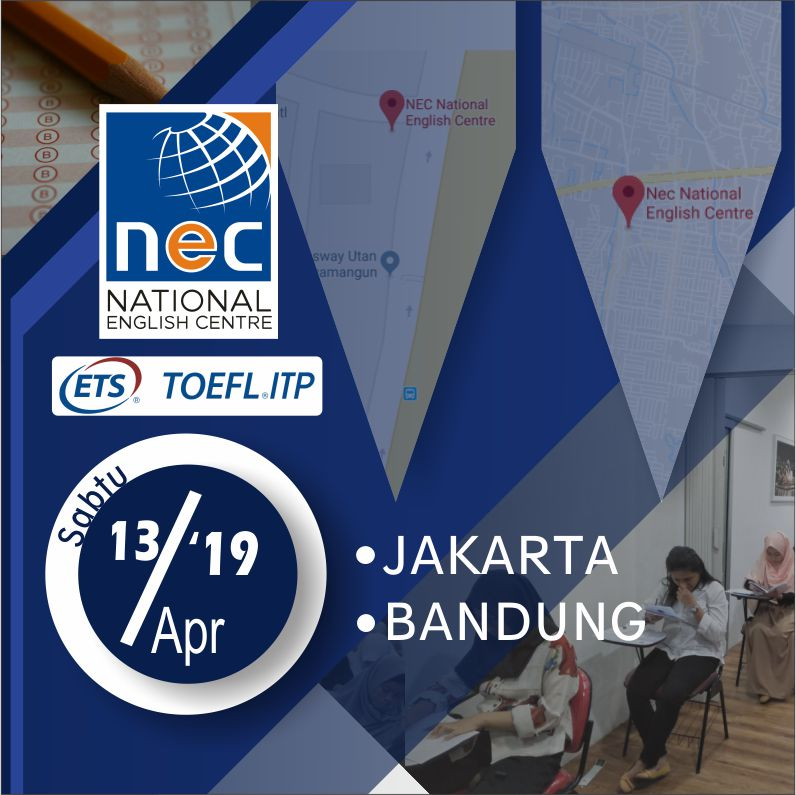 Jadwal TOEFL ITP April 2019