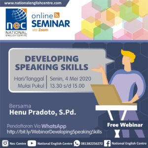 Seminar Online Developing Speaking Skills