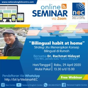 Read more about the article Seminar Online: BILINGUAL HABIT AT HOME
